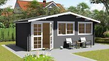 Gartenhaus aus Holz mit Vordach 0.5M Blockhaus 6x3M+0.5M,40mm Regensburg 40052OF