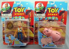 Disney's Toy Story Set of 2 Action Figures Quick-Draw Woody & Hamm Think Way