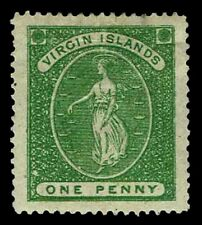 1868 Virgin Islands #4 Virgin & Lamps - OGHR - VF/XF - CV$87.50 (ESP#3372)