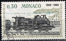 Monaco Railroad old 1898 Locomotive stamp