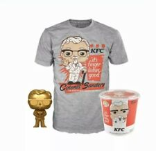 Funko Exclusive.Pop! Ad Icons: KFC - Gold Colonel Sanders + Pop! Tee size XLarge
