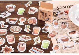 Cute coffee/ cafe 46 pcs sticker pack