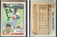 Bill Nahorodny Signed 1983 Topps #616 Card Cleveland Indians Auto Autograph