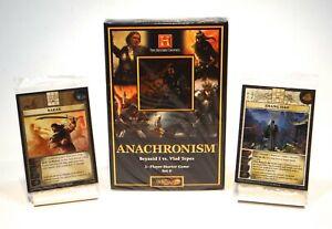 Anachronism Starter Set 6 & Promo Cards Barak & Zhang Jiao SEALED NEW lot