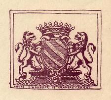 ROUERGUE AVEYRON - CINQ EX-LIBRIS  LOUIS D'ADHÉMAR DE CRANSAC DE PANAT, 20e s.