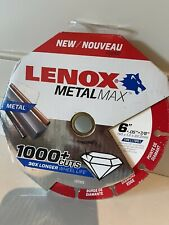 Lenox Metal Max Diamond Grit 6 Circular Saw Blade Metal Cutting Wheel New