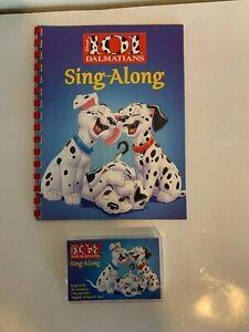 Vintage Disney 101 Dalmatians Sing Along Book and Cassette 1996