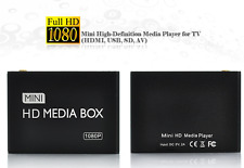 Mini Media Player 1080p Full Hd Tv HDMI, USB, SD, AV Mkv H.264 hub 16GB 2TB