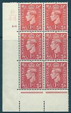 1d Pale scarlet P44 106 No Dot cylinder block perf 5(E/I) Unmounted Mint/Mnh