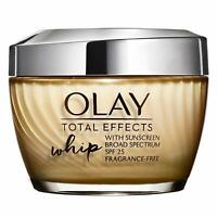 Olay Total Effects Whip Active Moisturizer SPF 25 Frangrance Free 04/2020 1.7oz