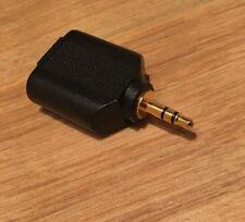 3.5 mm Oro Audio Stereo Jack a 2 Jack per Cuffie Splitter Adattatore Convertitore Nuovo