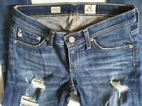 Adriano Goldschmied AG Womens Jeans The Stilt Crop Low Rise Sz 24