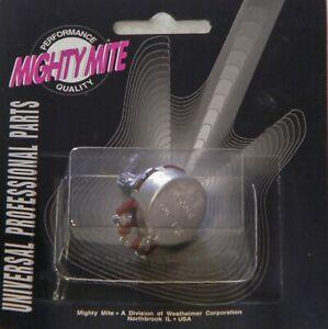 Mighty Mite D500K audio control pot electric guitar dime size or quarter size
