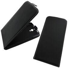 Flip Case Klapp Etui Cover Schutz Hülle Handy Tasche Flipcase Schwarz Schutzglas