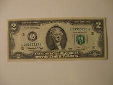 1976 US TWO DOLLAR (Bi centennial) Bill    (L - San Francisco)
