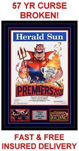 2021 MELBOURNE DEMONS MARK KNIGHT AFL GRAND FINAL HERALD SUN POSTER GAME PHOTOS!