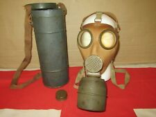 More details for ww2 french c38 civilian gas mask and tin dated 1939