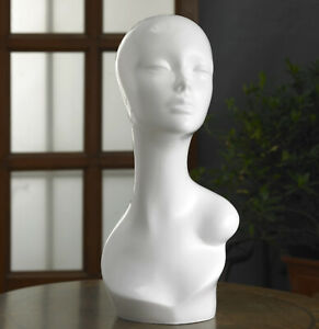 FEMALE DISPLAY MANNEQUIN DUMMY HEAD FOR HATS, WIGS, JEWELRY, SCARFS, HEAD PHONE