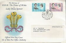 1981 Isle of Man Issue for Wedding of Charles and Diana