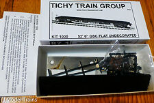 "Tichy Train Group #1000 (HO Scale) 53' 6"" GSC Commonwealth Flatcar - Kit - Undec"