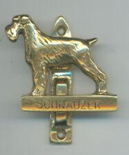 SCHNAUZER  Brass door knocker