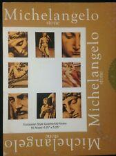 MICHELANGELO Stone European Style Quarterfold Notes  - Box of  16 + ENVELOPES