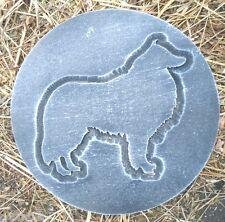 Collie plaque plastic mold plaster concrete mould abs sheltie casting mold