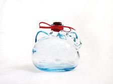 HELLO KITTY Shape Head Blue Glass Jar/Bottle + Cork Top Rare Collectible KAWAII