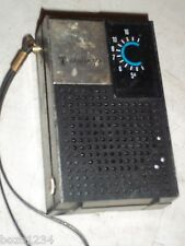 VINTAGE JULIETTE PORTABLE POCKET TRANSISTOR RADIO APR-256F AM ONLY w WRIST STRAP