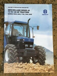NEW HOLLAND 40 SERIES FORD TRACTOR BROCHURE LATE VERSION, CLASSIC FARM MODELS