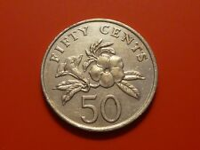 Singapore 50 Cents 1985,  Allamanda Flowers