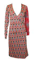 DESIGUAL bonita Vestido en Talla S= DE 34 en gris-rojo-negro