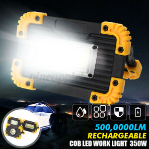 350W Emergency Flood Lamp COB LED Work Light Floodlight USB Rechargeable Lamp