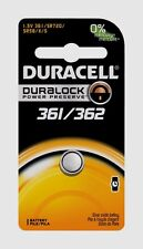 NEW! Duracell 361/362 Button Coin Battery Silver Oxide 1.5v Watch or Electronics