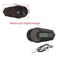 Waterproof Motorcycle Multifunction Digital Gauge Speedo Tacho Odo Meter Utility