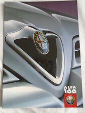 Alfa Romeo 166 range brochure Dec 1998