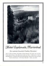 Hotel Esplandade Marienbad XL Reklame 1929 Besitzer Zischka Marianske Lazne +