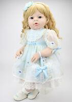 Cute 28 Reborn Baby Girl Doll Lifelike Newborn Realistic Wedding Gifts Handmade