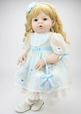 28'' Handmade bebe Reborn Lifelike Baby Doll Newborn Realistic Girl Wedding Gift