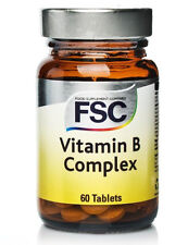 FSC Vitamin B Complex 60 Tablets - Stress, Mood, Hair, Skin & Nails