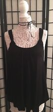 NWOT Anthropologie Knotted Scoop Neck Tank in Black by Vanessa Virginia Size S