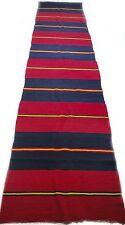 "Antique vintage striped Turkish handmade rug runner (32"" x 153"") pure wool # 88A"