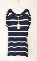 BNWT Crew Clothing Navy Blue & White Stripe 'Regatta' Jumper Dress RRP £65 UK 16