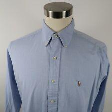 Polo Ralph Lauren Mens Yarmouth LS Button Down Light Blue Dress Shirt 15.5-34