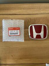 Genuine Honda Civic Type R Red H Badge