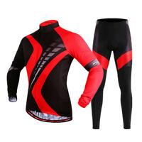 Herren Radtrikot Hose Set Langarm Shirts Hose MTB Bike Kits Winter