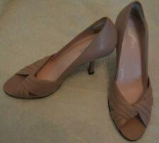 Barratts Carina dusty pink open toe leather stiletto shoes size 6 UK Used