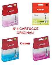Cartucce Canon Originale Cli-8 – N°4 - Ciano, Magenta, Magenta Photo, Giallo,
