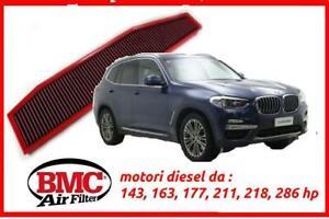 Filtro aria sportivo BMC BMW X3 20D e83 kit tuning set 163 hp filtre air filter