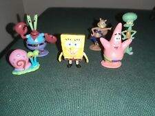Set mini action figure Spongebob Patrick Squiddi Mr.Krabs Sandy Cheeks Gari